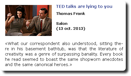 TED talks are lying you. Thomas Franc. Salon