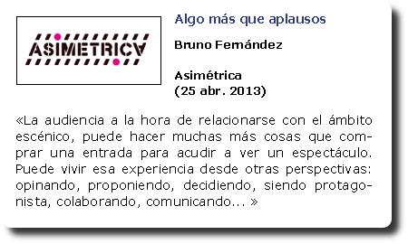 Algo más que aplausos. Bruno Fernández. Asimétrica