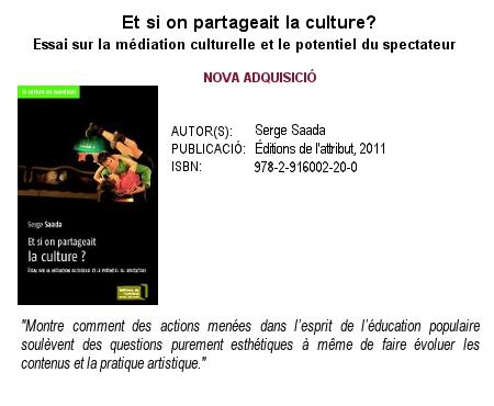 Et si on partageait la culture? Serge Saada